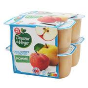 Purée de pommes sans sucre ajouté Douceur du verger (Marque repère E.Leclerc)