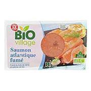 Saumon atlantique fumé Bio Village (E. Leclerc)