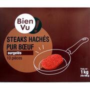 Steaks hachés surgelés Bien Vu