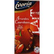 Tablettes de chocolat lait amandes caramélisées Ivoria
