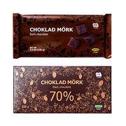 Tablettes de chocolat noir Ikea Choklad Mork