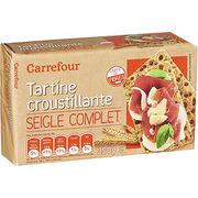 Tartine croustillante seigle complet Carrefour
