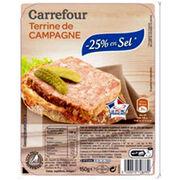 Terrine de campagne -25 % en sel Carrefour