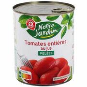 Tomates entières au jus pelées Notre jardin (Marque Repère E. Leclerc)