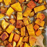 Recette facile pour une cuisine saine - Butternut, carottes et pommes de terre au four