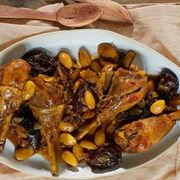 Recette de cuisineTajine de poulet aux pruneaux et aux amandes